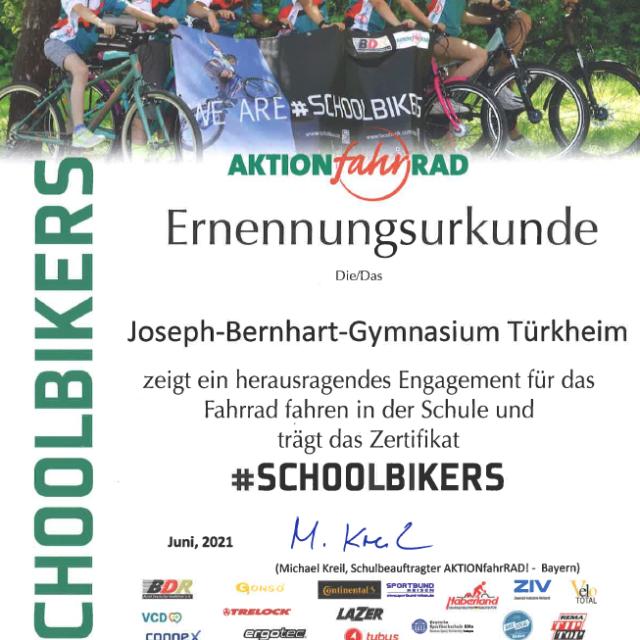#Schoolbikers